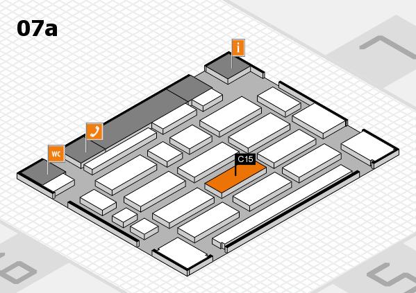MEDICA 2017 hall map (Hall 7a): stand C15