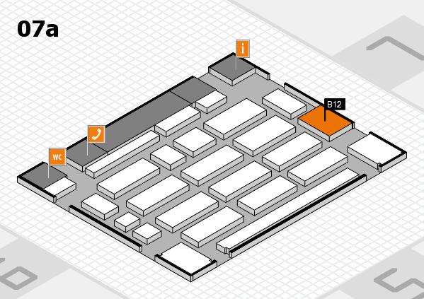 MEDICA 2017 hall map (Hall 7a): stand B12