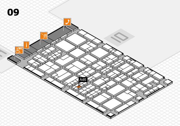 MEDICA 2017 hall map (Hall 9): stand A46