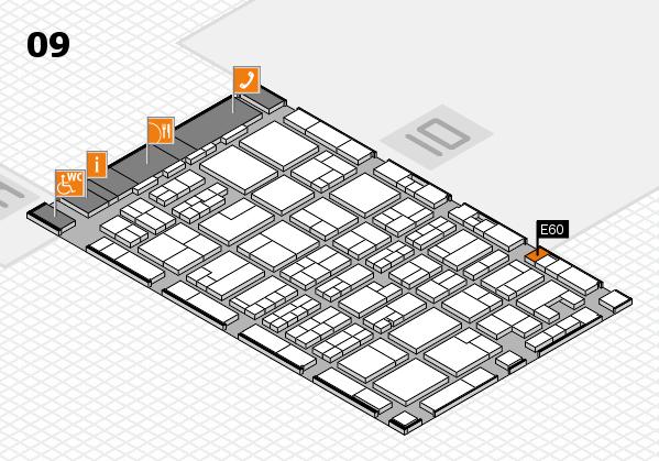 MEDICA 2017 hall map (Hall 9): stand E60