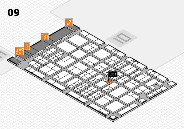 MEDICA 2017 hall map (Hall 9): stand C51