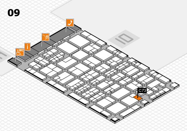 MEDICA 2017 hall map (Hall 9): stand C73