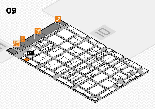 MEDICA 2017 hall map (Hall 9): stand A11