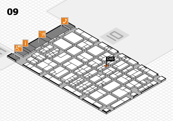 MEDICA 2017 hall map (Hall 9): stand D45
