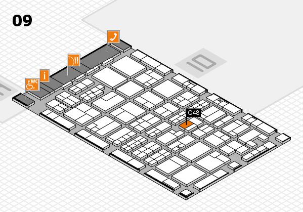 MEDICA 2017 hall map (Hall 9): stand C48