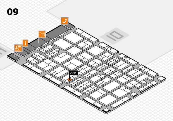 MEDICA 2017 hall map (Hall 9): stand A38