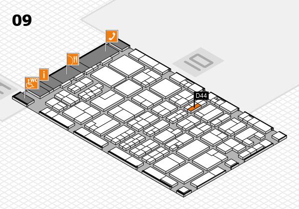 MEDICA 2017 hall map (Hall 9): stand D44