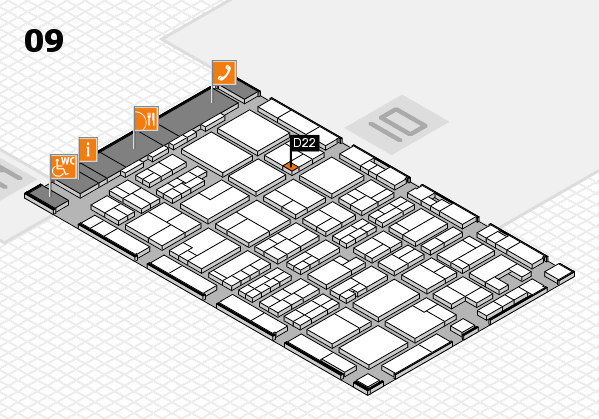 MEDICA 2017 hall map (Hall 9): stand D22
