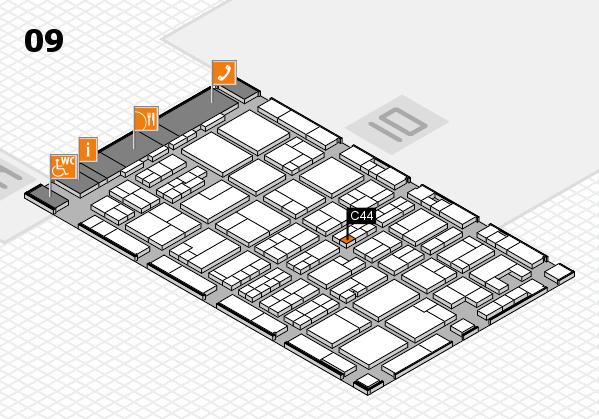 MEDICA 2017 hall map (Hall 9): stand C44