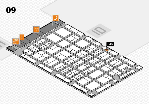 MEDICA 2017 hall map (Hall 9): stand E46