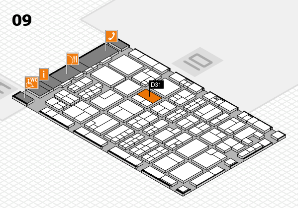 MEDICA 2017 hall map (Hall 9): stand D31