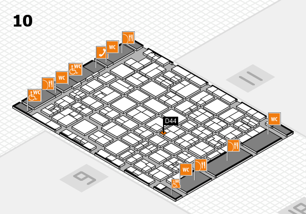 MEDICA 2017 hall map (Hall 10): stand D44