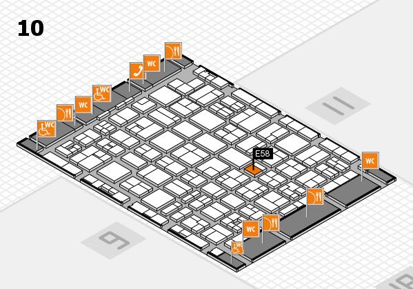 MEDICA 2017 hall map (Hall 10): stand E58