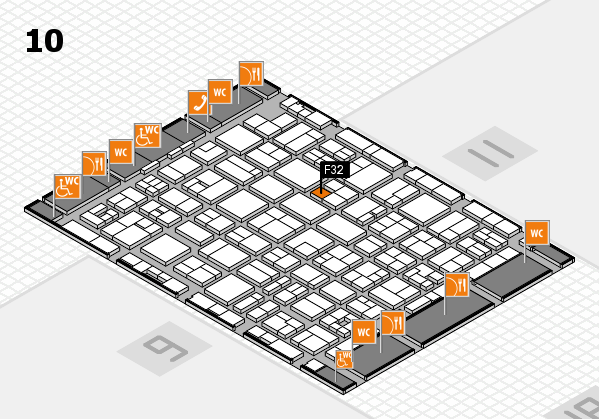 MEDICA 2017 hall map (Hall 10): stand F32