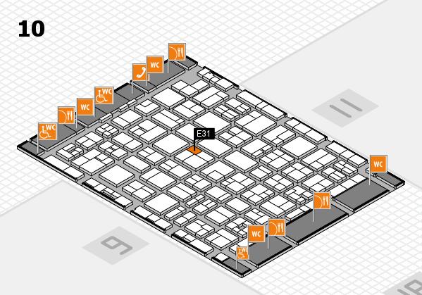 MEDICA 2017 hall map (Hall 10): stand E31