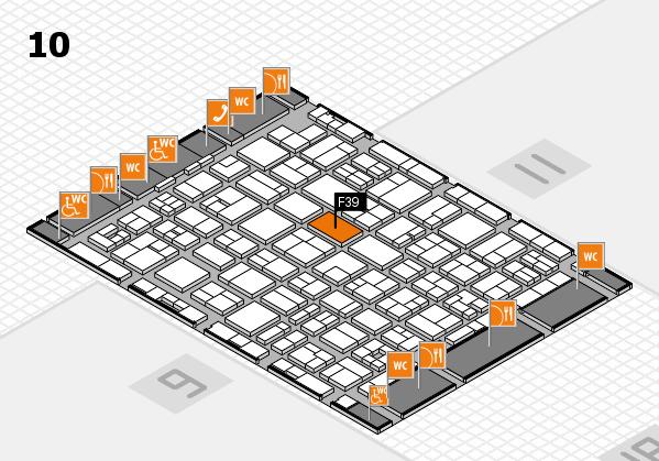 MEDICA 2017 hall map (Hall 10): stand F39