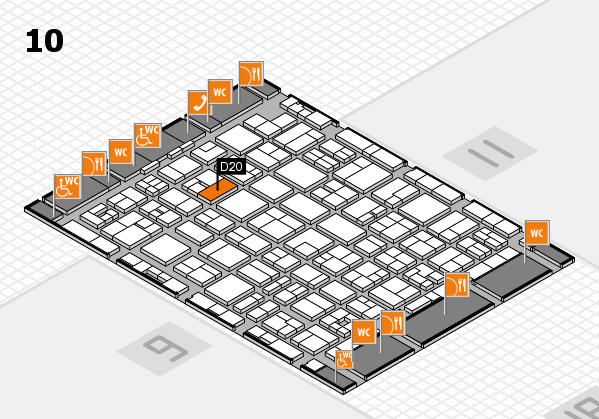 MEDICA 2017 hall map (Hall 10): stand D20
