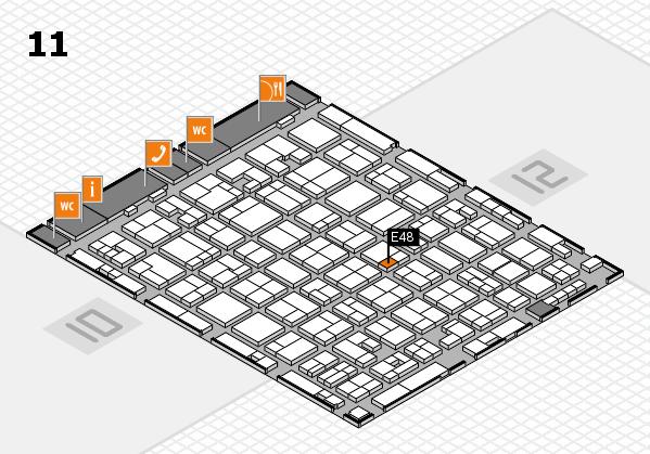 MEDICA 2017 hall map (Hall 11): stand E48