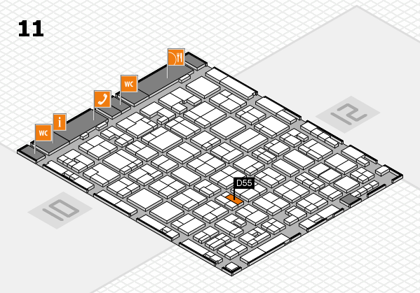 MEDICA 2017 hall map (Hall 11): stand D55