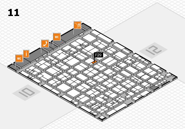 MEDICA 2017 hall map (Hall 11): stand F29