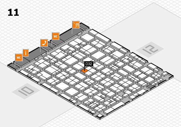 MEDICA 2017 hall map (Hall 11): stand D32