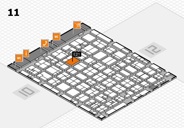 MEDICA 2017 hall map (Hall 11): stand E21