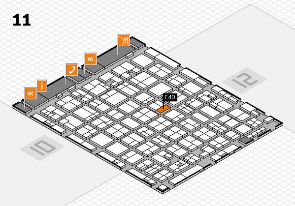 MEDICA 2017 hall map (Hall 11): stand E40