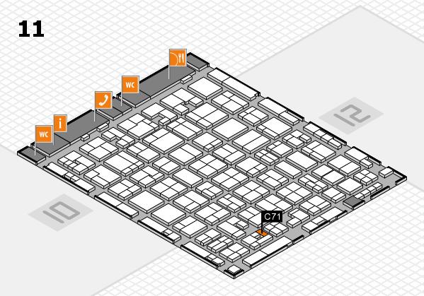 MEDICA 2017 hall map (Hall 11): stand C71