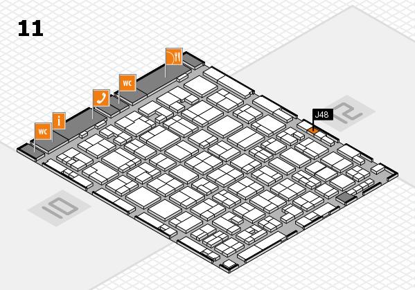 MEDICA 2017 hall map (Hall 11): stand J48