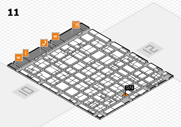 MEDICA 2017 hall map (Hall 11): stand D74