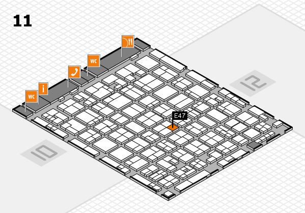 MEDICA 2017 hall map (Hall 11): stand E47