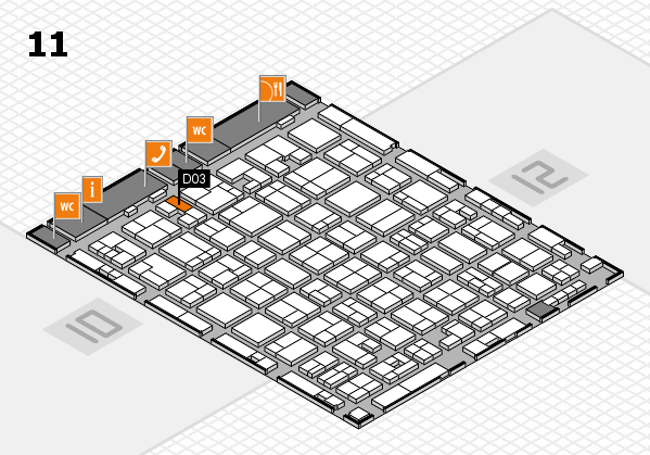 MEDICA 2017 hall map (Hall 11): stand D03