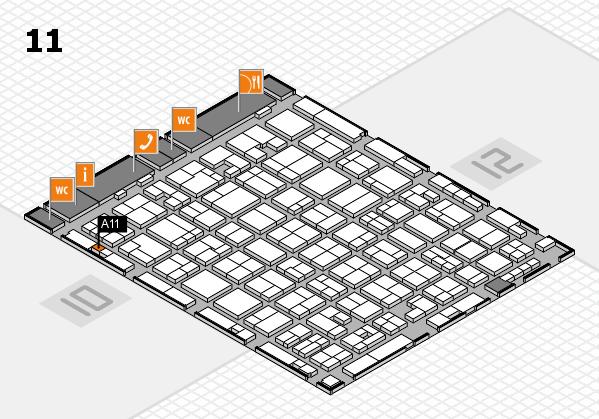 MEDICA 2017 hall map (Hall 11): stand A11