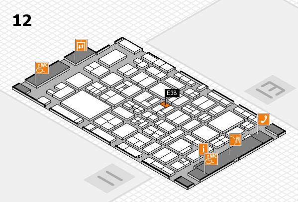 MEDICA 2017 Hallenplan (Halle 12): Stand E38