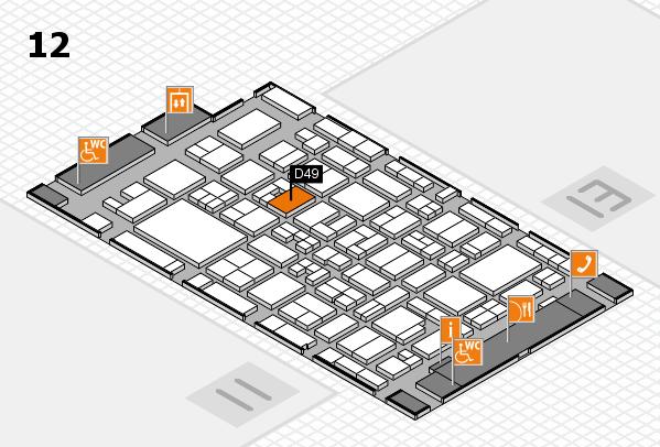 MEDICA 2017 Hallenplan (Halle 12): Stand D49