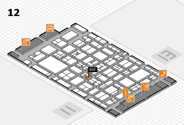 MEDICA 2017 hall map (Hall 12): stand B33