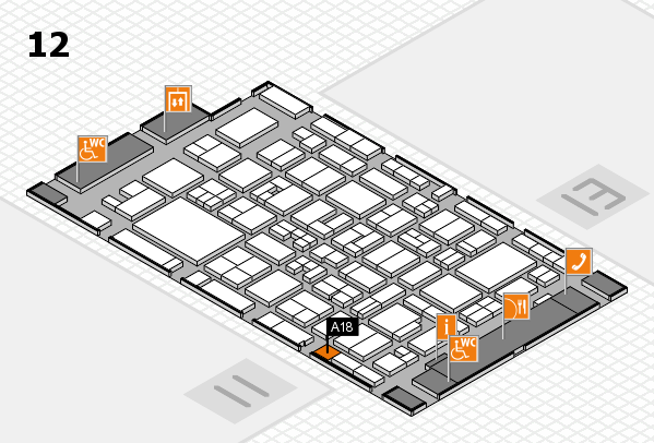 MEDICA 2017 Hallenplan (Halle 12): Stand A18