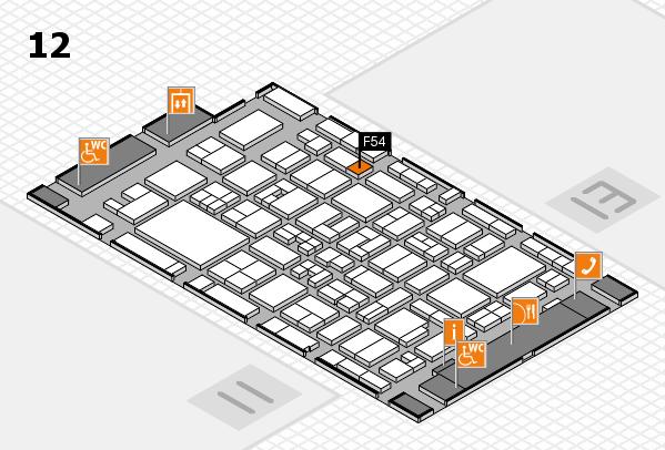 MEDICA 2017 Hallenplan (Halle 12): Stand F54