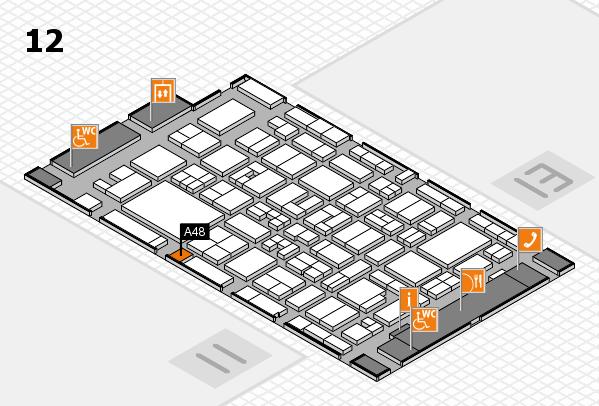 MEDICA 2017 hall map (Hall 12): stand A48