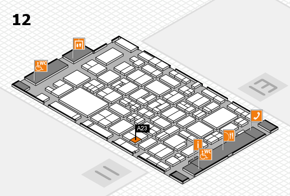 MEDICA 2017 Hallenplan (Halle 12): Stand A23