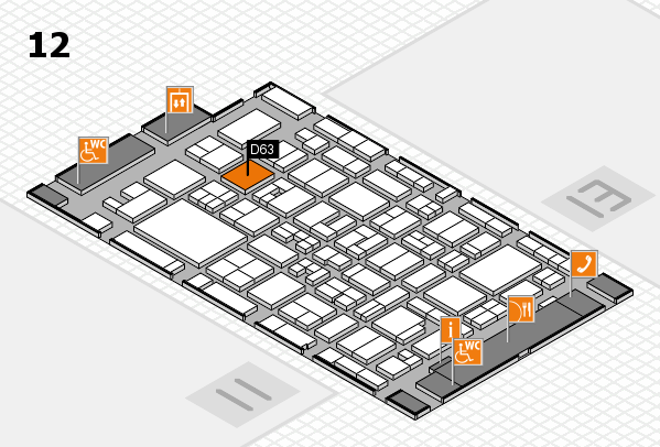 MEDICA 2017 hall map (Hall 12): stand D63
