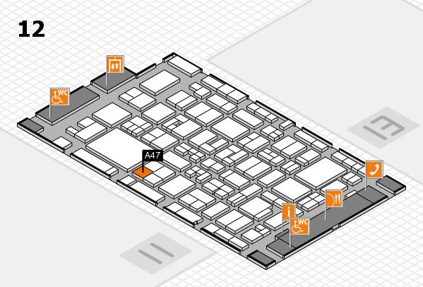MEDICA 2017 Hallenplan (Halle 12): Stand A47