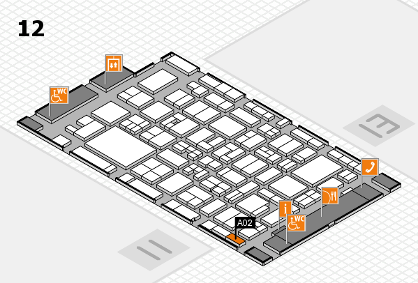 MEDICA 2017 Hallenplan (Halle 12): Stand A02
