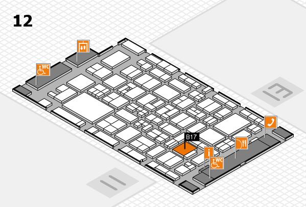 MEDICA 2017 hall map (Hall 12): stand B17
