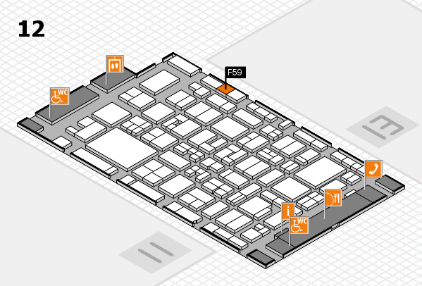 MEDICA 2017 Hallenplan (Halle 12): Stand F59