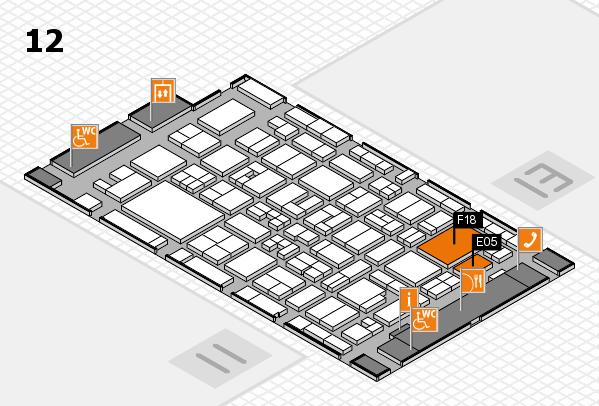 MEDICA 2017 hall map (Hall 12): stand E05, stand F18