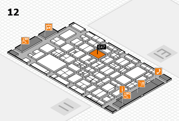 MEDICA 2017 Hallenplan (Halle 12): Stand E47