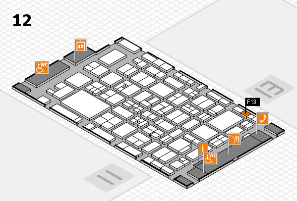 MEDICA 2017 Hallenplan (Halle 12): Stand F13