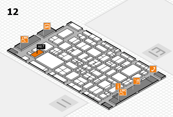 MEDICA 2017 hall map (Hall 12): stand A67
