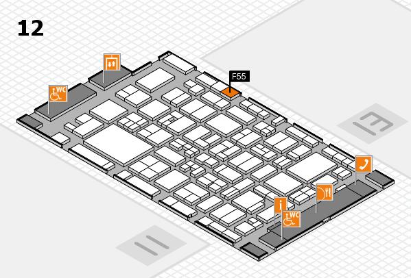 MEDICA 2017 Hallenplan (Halle 12): Stand F55